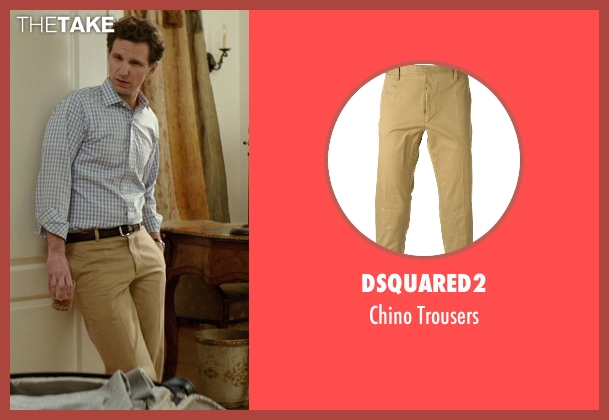 Dsquared2 beige trousers from The Best of Me seen with Sebastian Arcelus (Frank)