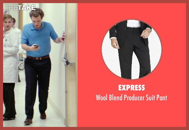 Express black pant from The Best of Me seen with Sebastian Arcelus (Frank)