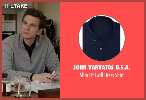 John Varvatos U.S.A. blue shirt from The Best of Me seen with Sebastian Arcelus (Frank)