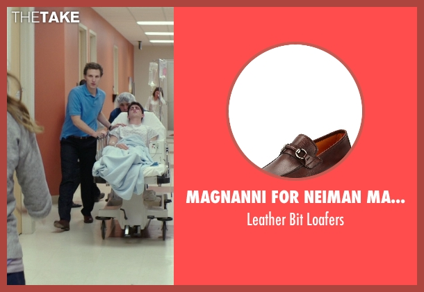 Magnanni for Neiman Marcus brown loafers from The Best of Me seen with Sebastian Arcelus (Frank)