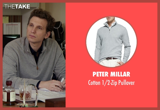 Peter Millar	 gray pullover from The Best of Me seen with Sebastian Arcelus (Frank)