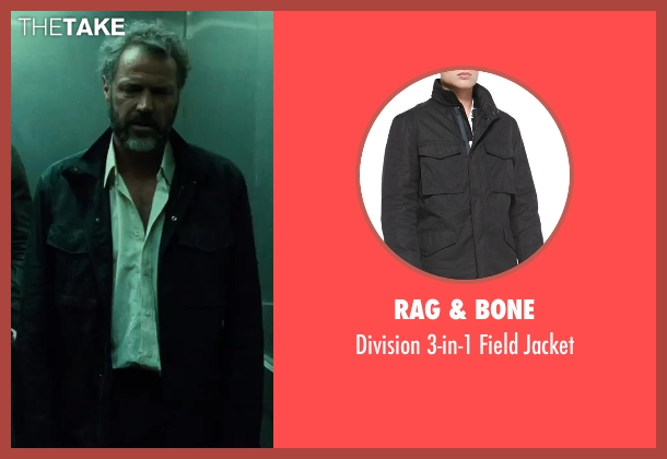 Rag & Bone black jacket from A Good Day to Die Hard seen with Sebastian Koch (Komarov)