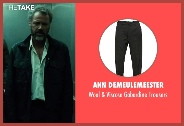 Ann Demeulemeester black trousers from A Good Day to Die Hard seen with Sebastian Koch (Komarov)