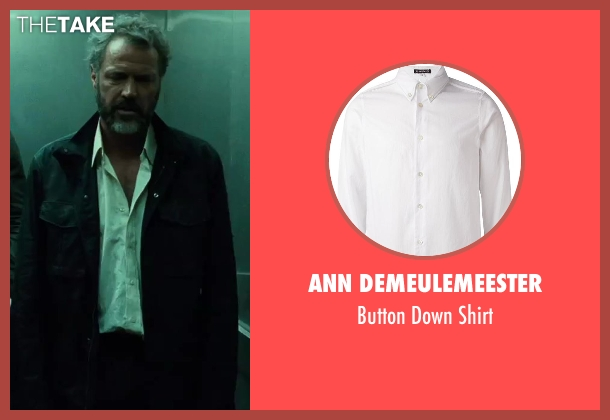 Ann Demeulemeester white shirt from A Good Day to Die Hard seen with Sebastian Koch (Komarov)