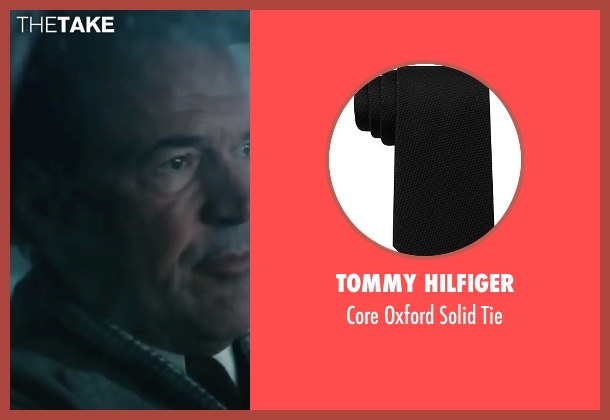 Tommy Hilfiger black tie from Bridge of Spies seen with Sebastian Koch (Wolfgang Vogel)