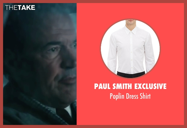 Paul Smith Exclusive white shirt from Bridge of Spies seen with Sebastian Koch (Wolfgang Vogel)