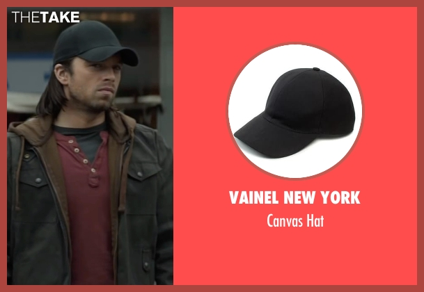VAINEL New York black hat from Captain America: Civil War seen with Sebastian Stan (Bucky Barnes / Winter Soldier)