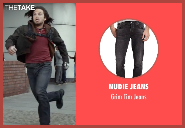 Nudie Jeans black jeans from Captain America: Civil War seen with Sebastian Stan (Bucky Barnes / Winter Soldier)