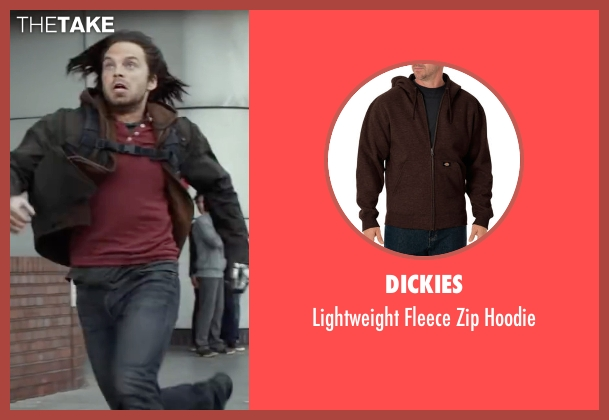 Dickies brown hoodie from Captain America: Civil War seen with Sebastian Stan (Bucky Barnes / Winter Soldier)