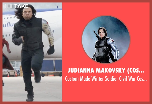 Judianna Makovsky (Costume Designer) costume from Captain America: Civil War seen with Sebastian Stan (Bucky Barnes / Winter Soldier)