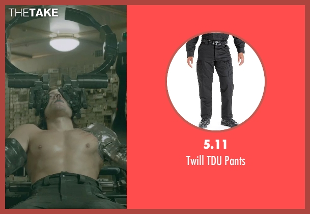 5.11 black pants from Captain America: The Winter Soldier seen with Sebastian Stan (Bucky Barnes / Winter Soldier)