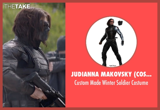 Judianna Makovsky (Costume Designer) costume from Captain America: The Winter Soldier seen with Sebastian Stan (Bucky Barnes / Winter Soldier)