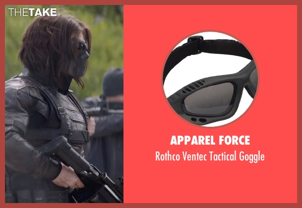 Apparel Force goggle from Captain America: The Winter Soldier seen with Sebastian Stan (Bucky Barnes / Winter Soldier)