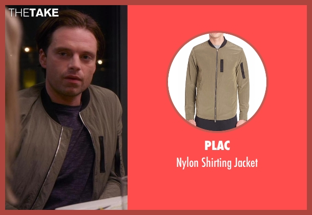 Plac green jacket from Chelsea seen with Sebastian Stan