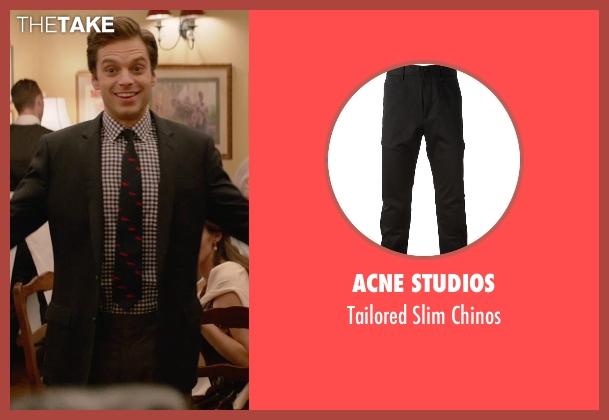 Acne Studios black chinos from Ricki and the Flash seen with Sebastian Stan (Joshua)