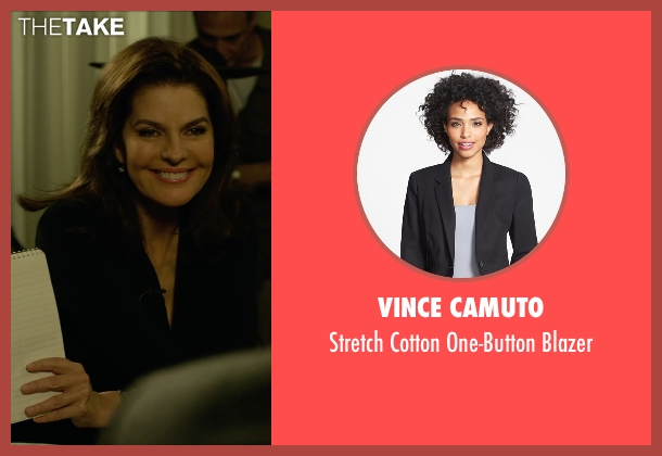 Vince Camuto black blazer from Gone Girl seen with Sela Ward (Sharon Scheiber)