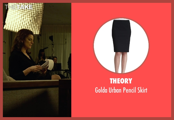 Theory black skirt from Gone Girl seen with Sela Ward (Sharon Scheiber)