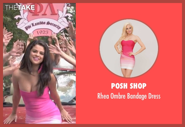 Posh Shop pink dress from Neighbors 2: Sorority Rising seen with Selena Gomez (Madison)