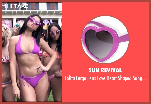 Sun Revival  purple sunglasses from Neighbors 2: Sorority Rising seen with Selena Gomez (Madison)