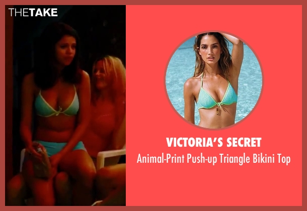 Victoria's Secret blue top from Spring Breakers seen with Selena Gomez (Faith)