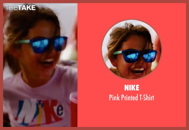 Nike pink t-shirt from Spring Breakers seen with Selena Gomez (Faith)