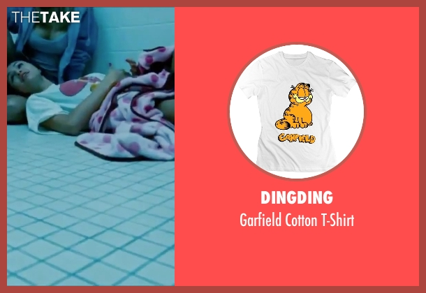 Dingding white t-shirt from Spring Breakers seen with Selena Gomez (Faith)