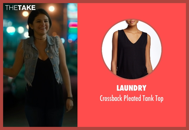 Laundry black top from The Fundamentals of Caring seen with Selena Gomez (Dot)