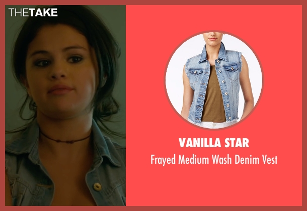 Vanilla Star blue vest from The Fundamentals of Caring seen with Selena Gomez (Dot)