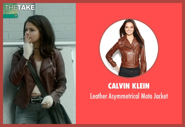 Calvin Klein red jacket from The Fundamentals of Caring seen with Selena Gomez (Dot)