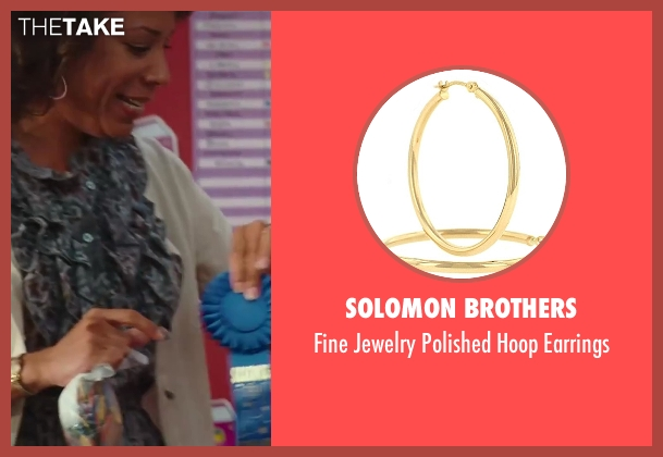 Solomon Brothers gold earrings from Sex and the City 2 seen with Selenis Leyva (Teacher)