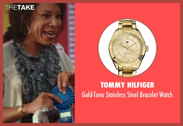 Tommy Hilfiger gold watch from Sex and the City 2 seen with Selenis Leyva (Teacher)