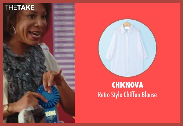 Chicnova white blouse from Sex and the City 2 seen with Selenis Leyva (Teacher)