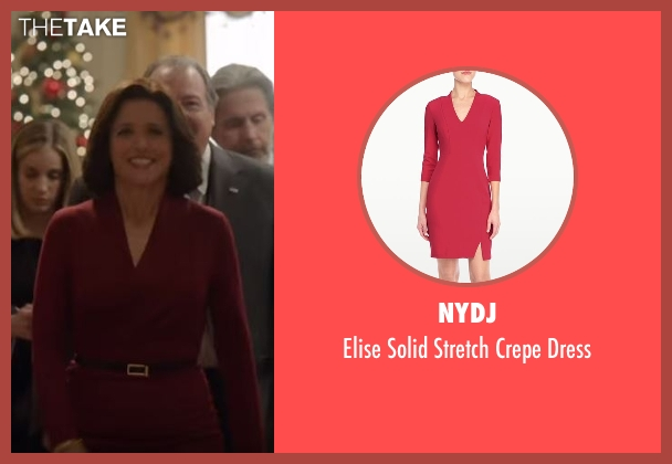 NYDJ red dress from Veep seen with Selina Meyer (Julia Louis-Dreyfus)