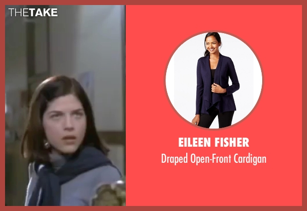 Eileen Fisher blue cardigan from Legally Blonde seen with Selma Blair (Vivian Kensington)