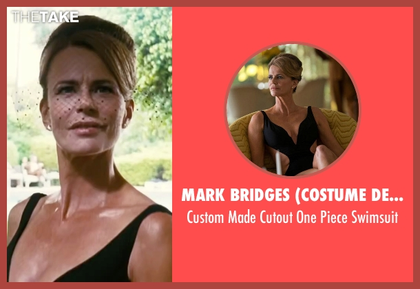 Mark Bridges (Costume Designer) black swimsuit from Inherent Vice seen with Serena Scott Thomas (Sloane Wolfmann)