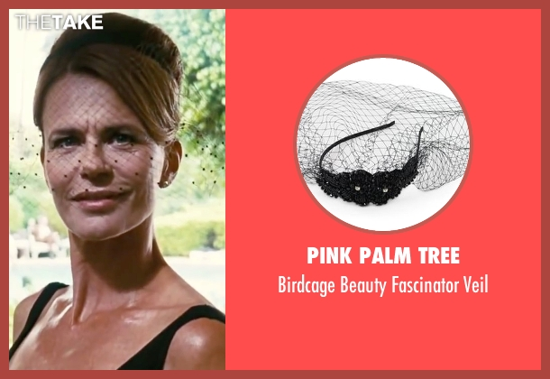 Pink Palm Tree black veil from Inherent Vice seen with Serena Scott Thomas (Sloane Wolfmann)