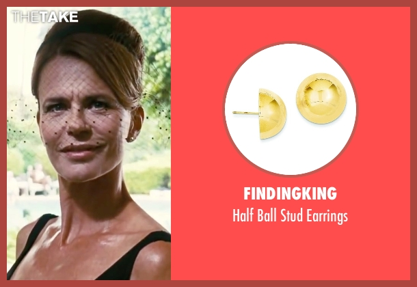 FindingKing gold earrings from Inherent Vice seen with Serena Scott Thomas (Sloane Wolfmann)