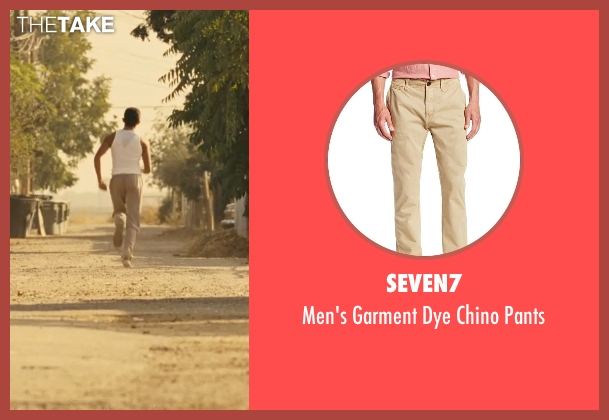 Seven7 beige pants from McFarland, USA seen with Sergio Avelar (Victor Puentes)