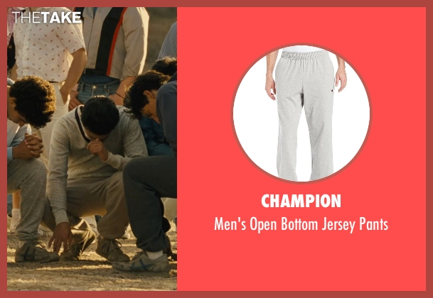 Champion gray pants from McFarland, USA seen with Sergio Avelar (Victor Puentes)