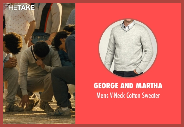 George and Martha gray sweater from McFarland, USA seen with Sergio Avelar (Victor Puentes)
