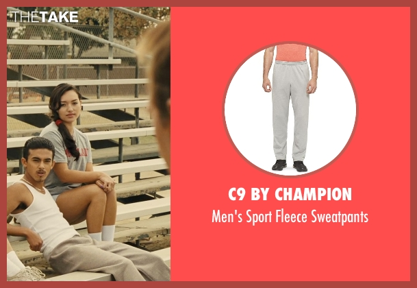 C9 By Champion gray sweatpants from McFarland, USA seen with Sergio Avelar (Victor Puentes)