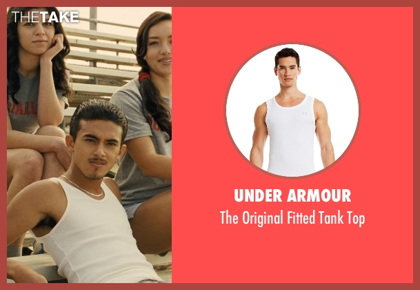 Under Armour white top from McFarland, USA seen with Sergio Avelar (Victor Puentes)