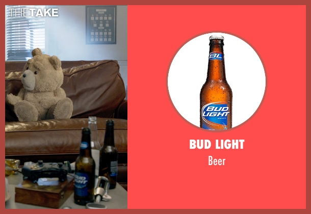 Bud Light beer from Ted 2 seen with Seth MacFarlane (Ted (voice))
