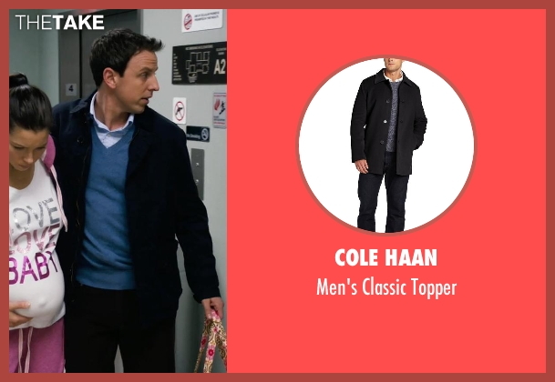 Cole Haan black topper from New Year's Eve seen with Seth Meyers (Griffin Byrne)