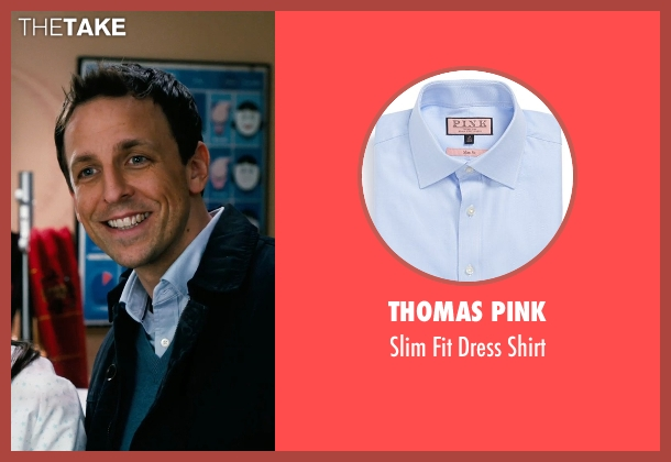 Thomas Pink blue shirt from New Year's Eve seen with Seth Meyers (Griffin Byrne)