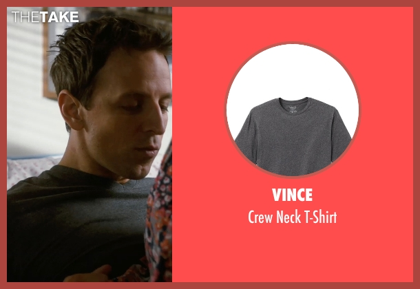 Vince gray t-shirt from New Year's Eve seen with Seth Meyers (Griffin Byrne)