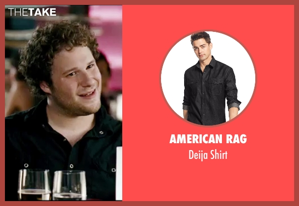 American Rag black shirt from Knocked Up seen with Seth Rogen (Ben Stone)