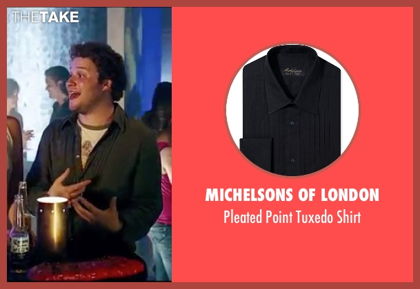 Michelsons Of London black shirt from Knocked Up seen with Seth Rogen (Ben Stone)