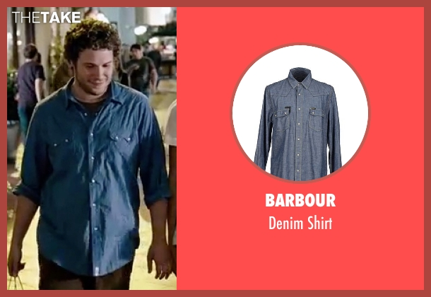 Barbour blue shirt from Knocked Up seen with Seth Rogen (Ben Stone)