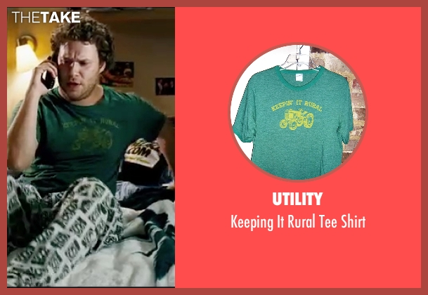 Utility green shirt from Knocked Up seen with Seth Rogen (Ben Stone)